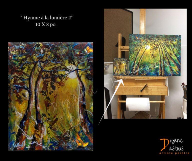 arbres- couleur terre-paysage- nature- acrylique- oeuvre