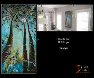décoration-home staging- oeuvres originales- oeuvres dans leur nouvel environnement