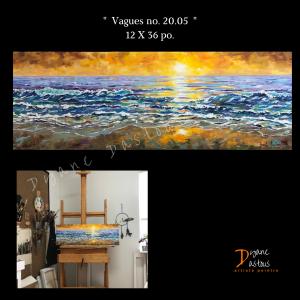 Vagues/eau/soleil/mer