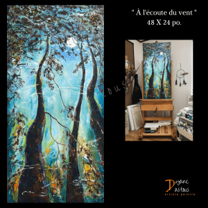 arbres-nature-paysage-acrylique-peinture-oeuvre d'art- art moderne- art contemporain- artiste internationale- art galleries